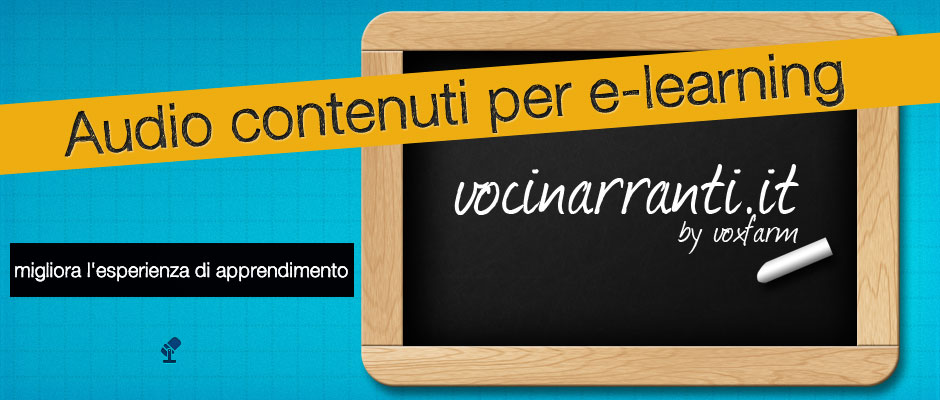 Audio contenuti per e-learning